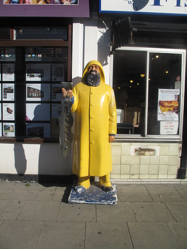 Man in fron of 'Chippy'