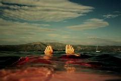 Deep. (DJ Bass) Tags: seascape film feet me swimming deep floating croatia vista dreamy recline 100asa merman 25faves