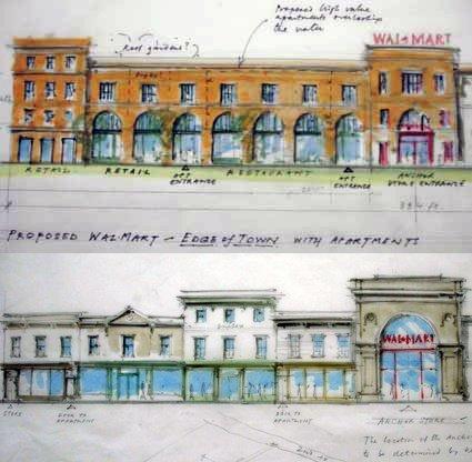 rendering of improved big-box design (by: Ben Pentreath for Mississippi Renewal)