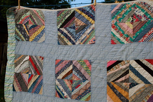 Aunt Tildy's string pieced quilt