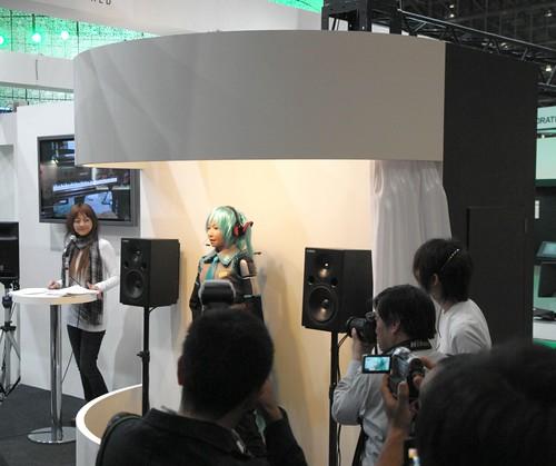 VOCALOID Hatsune-Miku robot (HRP-4C MIMU)