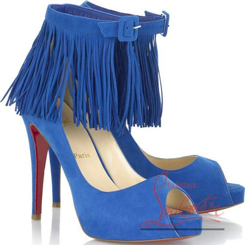 Christian_Louboutin_Blue_suede_fringe_pumps