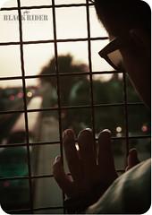 Day 69/365: I never felt so wicked as when I willed our love to die (Black Rider Studios) Tags: bridge sunset selfportrait sunglasses train rebel gate afternoon bokeh horizon trainstation hispanic 365 goodbye heartbreak leatherjacket rilokiley traindepot silverlining project365 inspiredbymusic 365days indiefolk imgone