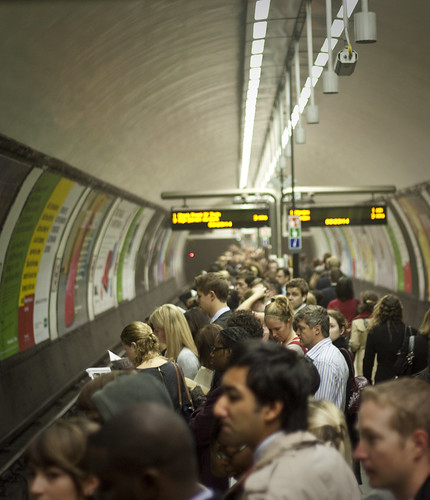 Clapham Common Underground Station Rush Hour