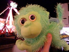 Behold Egbert the Space Monkey, who I won.