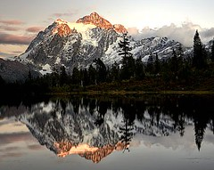 MT Shuksan at Picture Lake (zingpix) Tags: sunset usa mountain lake mountains reflection jeff washington all  picture mount rights cascades reserved shuksan mtshuksan whatcom picturelake allrightsreserved zingpix abcgroup jeffjaquish jaquish zingpixcom