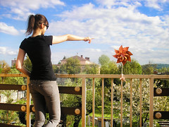 view from my balcony (oli.G) Tags: summer sky colors girl warm outdoor