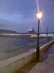 the NIGHT and the LIGHT...Agia Thalasini (dimitra_milaiou) Tags: life road blue sea sky art church nature colors museum architecture night clouds dark painting landscape island greek lights europe paint waves hellas chapel tourist greece hora moonlight summertime emotions chora andros cyclades dimitra    horaandros aigaio   plakoyres agiathalasini neimporio milaiou