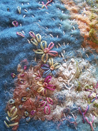 Felted & embroidered