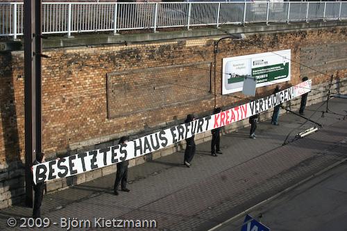 antifa demo magdeburg besetztes haus erfurt kreativ verteidigen solidarität squat md