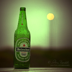 a beer and a bokeh () Tags: andy beer photoshop heineken bottle crossprocessed bokeh andrea andrew birra 50mmf14 bottiglia benedetti nikond90