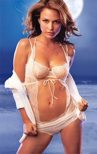 Josie Maran lingerie photos