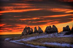 Evening Sky (Jesse Clark) Tags: road sunset sky snow colors colorado rocks wyoming hdr geo:lon=10492292046546936 geo:lat=4095355283203073