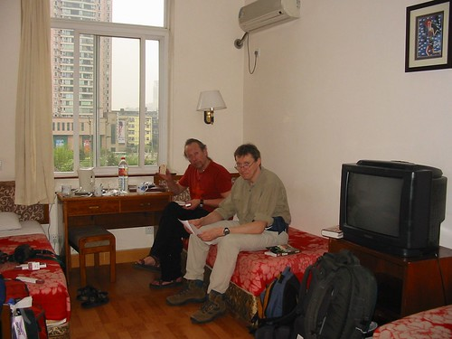 Onze kamer in Chengdu's Traffic Hotel
