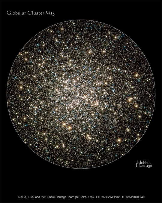 Hercules Globular Cluster by the Hubble Space Telescope