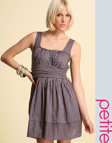 ASOS PETITE Striped Cotton Dress