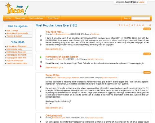 Screenshot of Therap Ideas.
