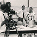 Cine cameraman and Syd Donovan with an Astronaut