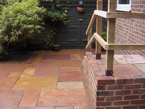 Indian Sandstone Patio and Lawn Image 25