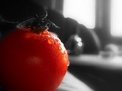 tomato (RoYaLHigHnEsS1) Tags: red macro fairy tomatoe