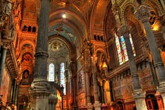 80/365 Notre Dame de Fourviere Cathedral (SeanOConnor2010) Tags: france church cathedral lyon 365 hdr project365 80365 notredamedefourviere p3652009