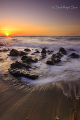 Portrait of a Sunset! (Suddhajit) Tags: uk sunset beach spring raw waves isleofman rockpool sigma1020 vob glenmooar canoneos400d gnd09 suddhajit