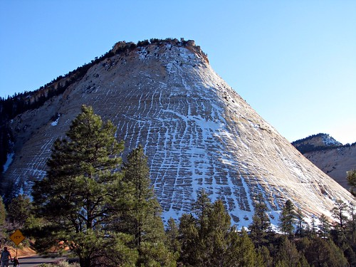 checkerboard mesa with snow