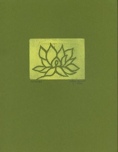 Lotus #1: Yellow on green.
