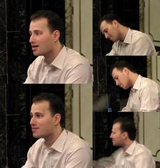 Nikolaj Znaider, violin, signs autographs