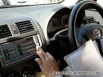 Setting the GPS