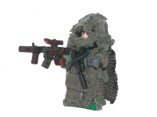 Lego custom minifig fabric sniper