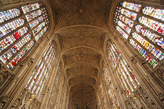 Splendour of King's (Lawrence OP) Tags: cambridge college glass fan gothic medieval stained kings vault perpendicular