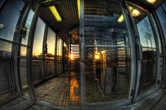 The Chicago Transit Authority (kern.justin) Tags: sunset chicago train nikon authority doorway transit turnstile the d700 kernjustin wwwthewindypixelcom thewindypixel