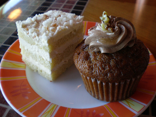 Coconut Cream Cake and Banana Nut Muffin (Carnival Splendor)