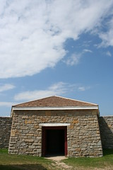 A Mighty Fortress (lars hammar) Tags: door sky history minnesota stone army gate fort military masonry stpaul historic fortress fortsnelling minnesotahistoricalsociety