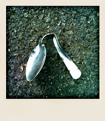 Evidence of Uri (Claire_Sambrook) Tags: light apple metal silver wonder found pavement decay spoon portsmouth bent southsea apps iphone polarise spoonbending clairesambrook welshphotographer createup clairesambrookphotographer