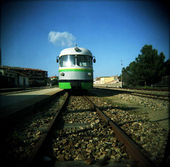 lomo holga 120 : train in vain (cHr1st1an S images) Tags: sardegna railroad trees sky italy cloud color 120 6x6 film alberi train square holga lomo lomography flickr heaven sardinia nuvola stones traintracks tracks rail railway sidewalk pietre cielo squareformat vignetting vignette treno holga120 theclash oldtrain ferrovia binari marciapiede fromtheground tempiopausania film120 traininvain lomoholga lomographies flickraward film6x6 flickrlovers lomoholga120 internationalflickrawards chr1st1ans christiansorrentino