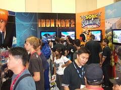 Sega Booth at San Diego Comic-con
