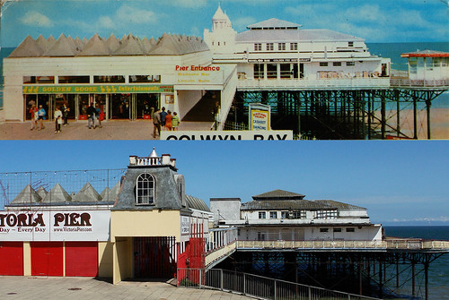 Colwyn Bay Pier - Then & Now by you.