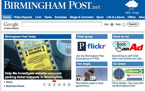 Birmingham Post on help Me Investigate