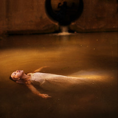 the sacrificial lamb (brookeshaden) Tags: shadow water creek dead death glow tunnel lamb float sacrificial theyoungmartyr pauldelaroche notaselfie brookeshaden norwaynatasha
