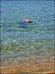 (Rafael Montes) Tags: blue sea espaa costa beach girl azul clouds spain mediterraneo dramatic playa olympus arena bikini cielo nubes mm isla menorca cala baleares minorca rovers biquini rov balearic 1442 e520 220posse