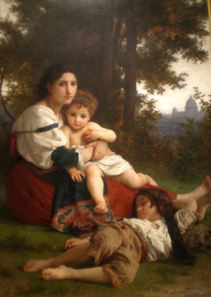 William Adolphe Bouguereau 1879 'Rest', Museum of Art, Cleveland Ohio