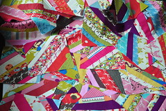 scattered (JulieFrick) Tags: momo quilt squares string patchwork wonderland honeybun jellyroll pieced