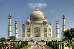 Taj Mahal HDR version (Jamal Rahman) Tags: india love grave tomb tajmahal agra symmetry hdr sevenwonders shahjahan mumtaz 1exp