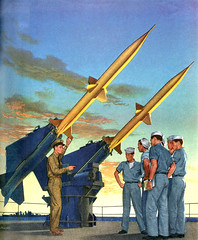 Convair: anti-aircraft missle (x-ray delta one) Tags: illustration america vintage magazine ads advertising poster media russia propaganda nazis hitler ad navy patriotic nostalgia 1950s ww2 americana missile civildefense capitalism bigbrother tomorrowland atomic populuxe nato leningrad stalin coldwar thefuture worldwar2 aerospace atomicbomb ussr worldwar1 icbm convair worldoftomorrow communisim magazineillustration ww3 worldwar3 greatpatrioticwar atomicwar atomicpower warsawpact thermonuclearwar nucleardeterent