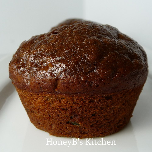Chocolate Banana Zucchini Muffins