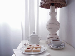 chá biscoitos