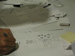 Team 3 get sketching