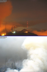 Station fire takes on Mount Wilson.. (etgeek (Eric)) Tags: la webcam mountwilson lafire stationfire pleasenoinvites 9682742 lafiretimelapse ididnottaketheseimagesarefromawebcam